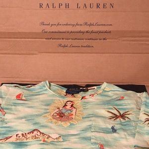 Polo Ralph Lauren Polo Bear Hawaiian Luau Tee Sz M
